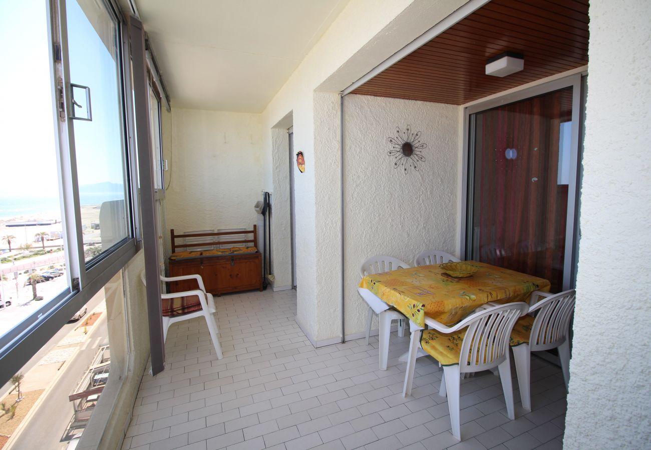 Ferienwohnung in Canet-en-Roussillon - Magnifique T2 avec vue mer et parking