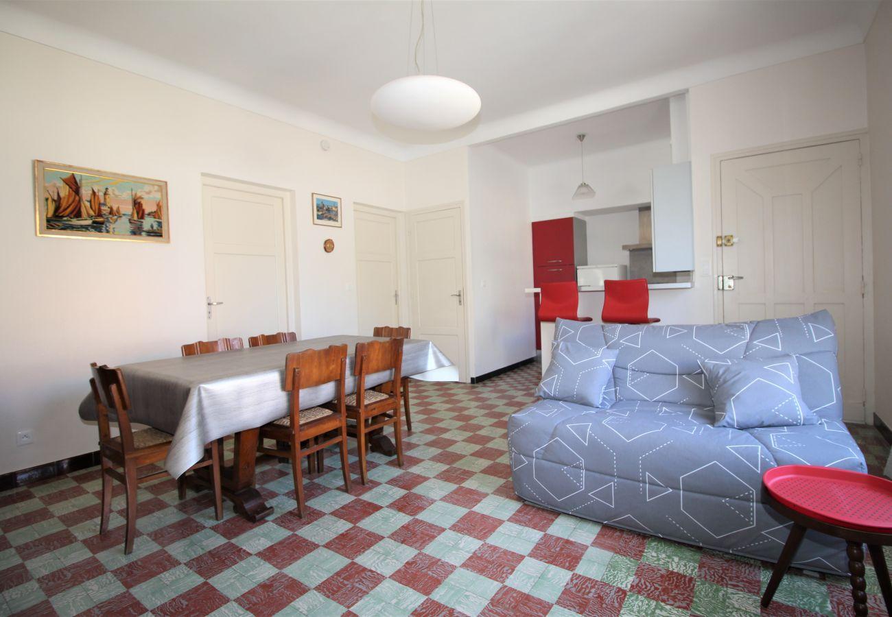 Ferienhaus in Canet-en-Roussillon - Maison à deux pas de la plage avec agréable jardin.