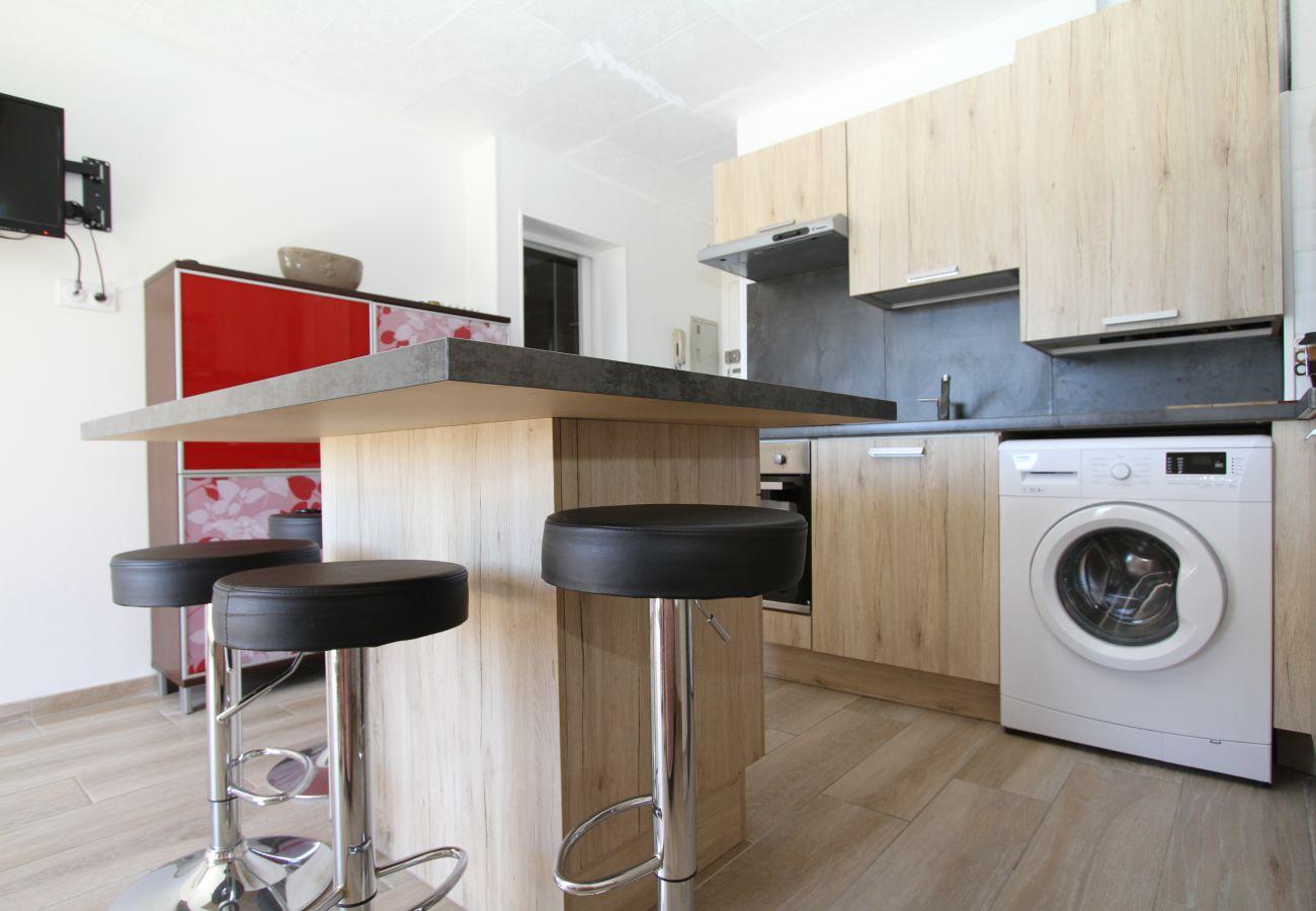 Apartamento en Canet-en-Roussillon - 1 bedroom apartment 3 stars in front of the beach