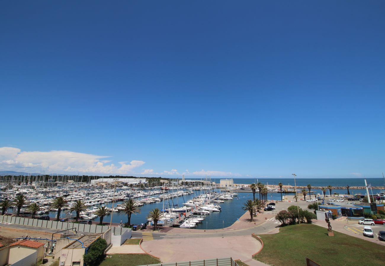 Appartement à Canet-en-Roussillon - Jolie T2 avec vue sur la Marina