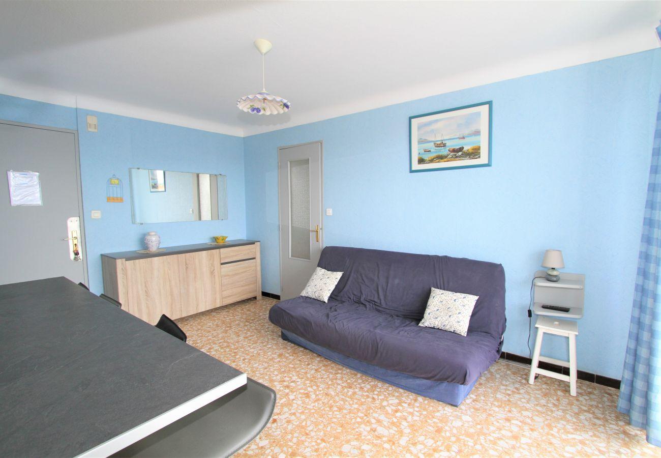 Appartement à Canet-en-Roussillon - Appartement T2 avec piscine à 200m de la mer